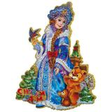 "Наклейка 3D ""Красавица Снегурочка"", размер: 25*33см"