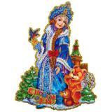 "Наклейка 3D ""Красавица Снегурочка"", размер: 18*23см"