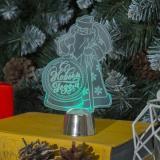 """Светильник акриловый """"С Новым Годом!"""", 14.5х9 см, 1 LED, RGB микс"""