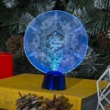 """Светильник акриловый """"Снежинка"""", 13,5х11 см, 1 LED, RGB микс"""
