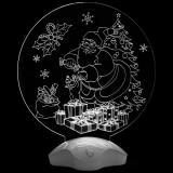 """Светильник акриловый """"Дедушка Мороз и подарки""""   3xAAA, в комплект не входят"""