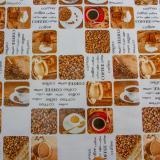 Клеенка ПВХ 1,4*20м кофе рис. 012 JAKLIN Dekorelle (1/1)