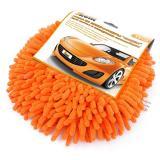 Губка из микрофибры круглая для мытья и полировки автомобиля 19 см Рыжий кот (1/50)
