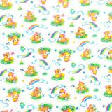 Ткань фланель хлопковая детская лиса 90см*50м плотность 175гр Красный Октябрь (1/1)