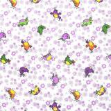 Ткань фланель хлопковая детская  птицы 90см*50м плотность 175гр Красный Октябрь (1/1)