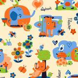 Ткань фланель хлопковая детская персиковый 90см*50м плотность 175 гр Красный Октябрь (1/1)