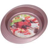 Форма стальная для выпечки круглая розовая с антипригарным покрытием 29,5*26*4см DANIKS (1/48)