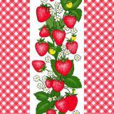 Полотно вафельное красные ягоды 40см * 77 м 10 см плотность 150гр  (1/1)