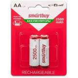 Аккумулятор NiMh Smartbuy AA/2BL 2500 mAh (2/24)