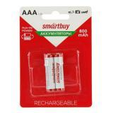 Аккумулятор NiMh Smartbuy АAA/2BL 800 mAh (2/24)