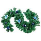Гирлянда хвойная 2,0м, украшения синего цвета, SYCB17-202 (15)