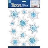 Стикер PSX7503 Искрящиеся снежинки - объёмные
