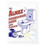 Блок подвесной для унитаза 30 г лимон флоу-пак Almaz (1/12)