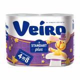 Бумага туалетная 2 слоя 4 рулона 30 м Standart plus Veiro (1/15)