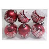 Набор  красных шаров 6шт, диаметр 6см  Пейзаж