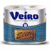 Бумага туалетная 3 слоя 4 рулона 17,5 м ELITE Veiro (1/10)