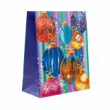Пакет бумажный подарочный 26*32*12см рис. шар на синем НОВЫЙ ГОД АВ-принт (1/12)