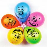 """Набор латексных воздушных шаров 12"""" 5 шт рис. смайлы ассорти Ав-принт (1/1)"""