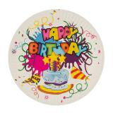 Набор бумажных тарелок 23 см 6 шт HAPPY BIRTHDAY Волшебная страна (1/1)