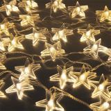 Гирлянда  Созвездие  40 led, длина 4м, тёпл-белый, прозр.шнур  SE-STAR-440WW  Funray