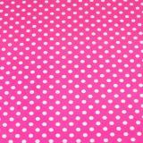 Бумага крафтовая 50 см*10 м горох белый на ярко-розовом (1/1)