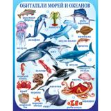 Плакат учебный детский 594*456мм Обитатели морей и океанов АВ-принт (1/10)