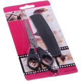 Ножницы для стрижки волос с расческой прямые 16,5см Barber (1/1)