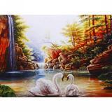 Мозаика алмазная 30*40см Лебеди на озере J40088 (1/1)