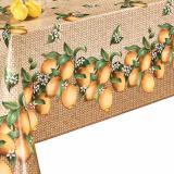 Клеенка ПВХ на нетканой основе 1,4*20м лимоны на бежевом Dekorama (1/1)