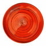 Блюдце керамическое 15,5 см большое оранжевая полоска Волшебная страна (1/24)