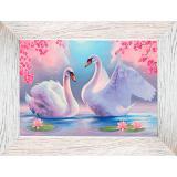 Картина репродукция 13*18 см Лебеди Постер-Лайн (1/1)
