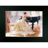 Картина репродукция 13*18 см Женщина и фортепиано Постер-Лайн (1/1)