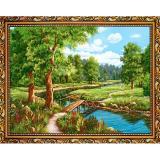 Картина репродукция 30*40 см Мост в лесу Постер-Лайн (1/1)
