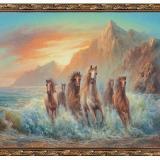 Картина из гобелена 60*80 см Лошади в воде Постер-Лайн (1/1)