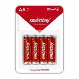 Батарейка алкалиновая LR6/4B упак 4 штуки  Smartbuy (4/48)