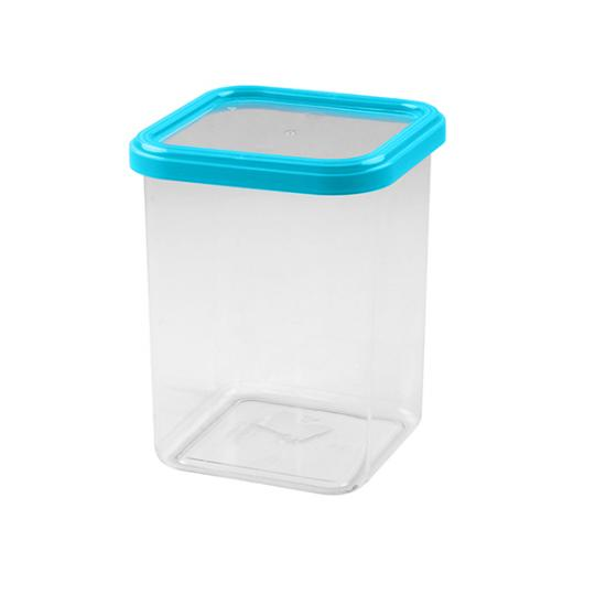 Банка пластиковая для сыпучих продуктов 1,2 л квадратная CUBBO LIGHT (1/12) - 1