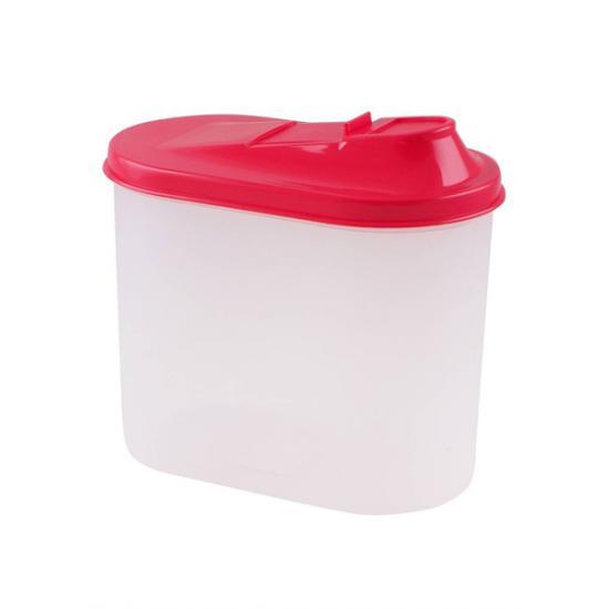 Банка пластиковая для сыпучих продуктов 1,5 л овальная Полимербыт (1/24) - 1