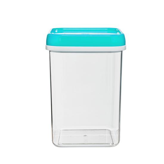Банка пластиковая для сыпучих продуктов 1,2 л квадратная Полимербыт (1/30) - 1