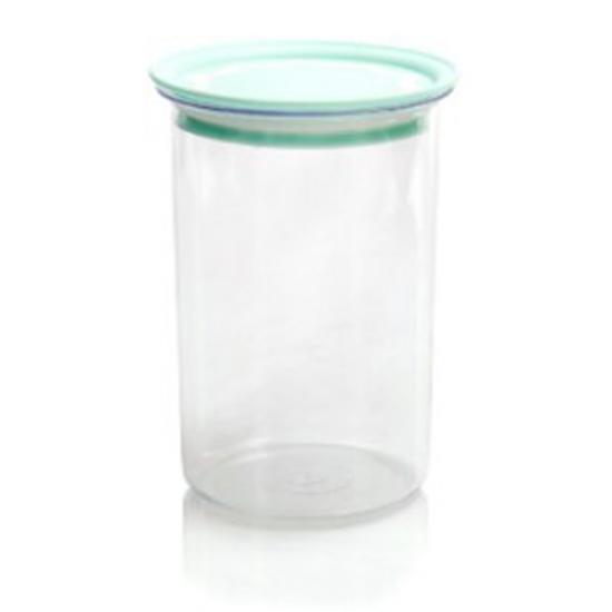 Банка пластиковая для сыпучих продуктов 1,0 л с вакуумной крышкой Полимербыт (1/38) - 1