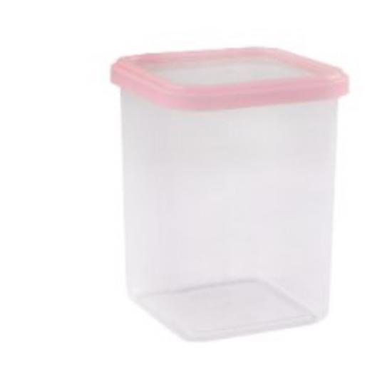 Банка пластиковая для сыпучих продуктов 1,2 л CUBBO LIGHT Полимербыт (1/12) - 1