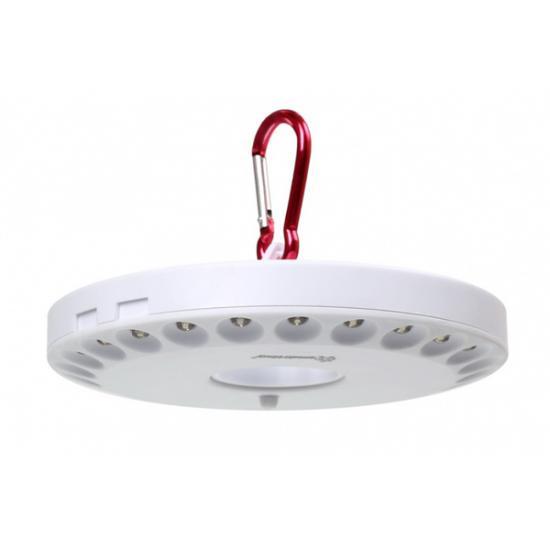 Фонарь светодиодный 24 LED с карабином для подвешивания белый Smartbuy (1/1) - 1