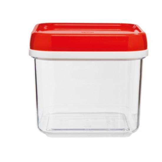 Банка пластиковая для сыпучих продуктов 0,6 л Полимербыт (1/18) - 1